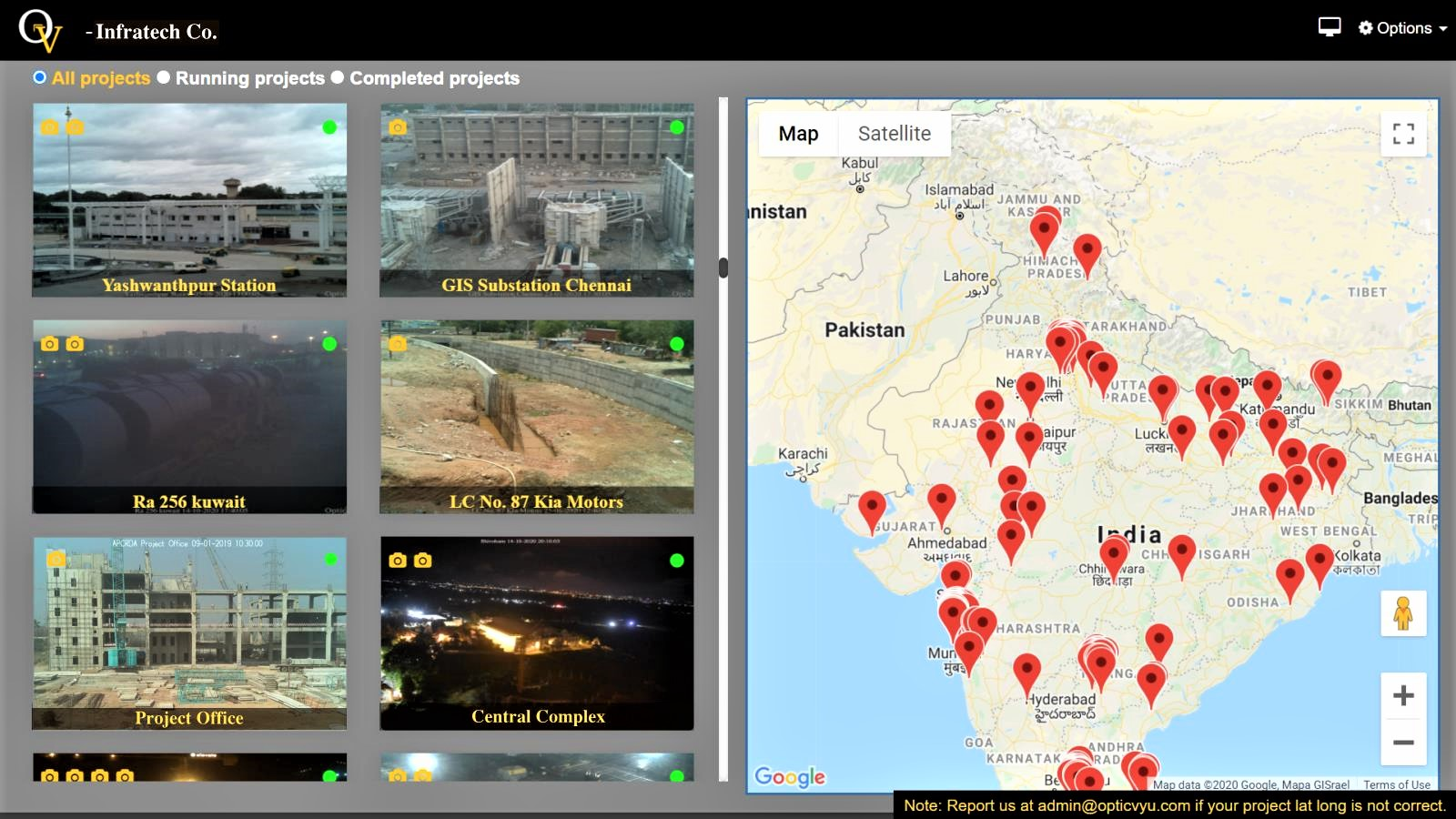 Interactive map view